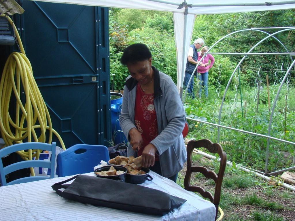 Préparation du buffet