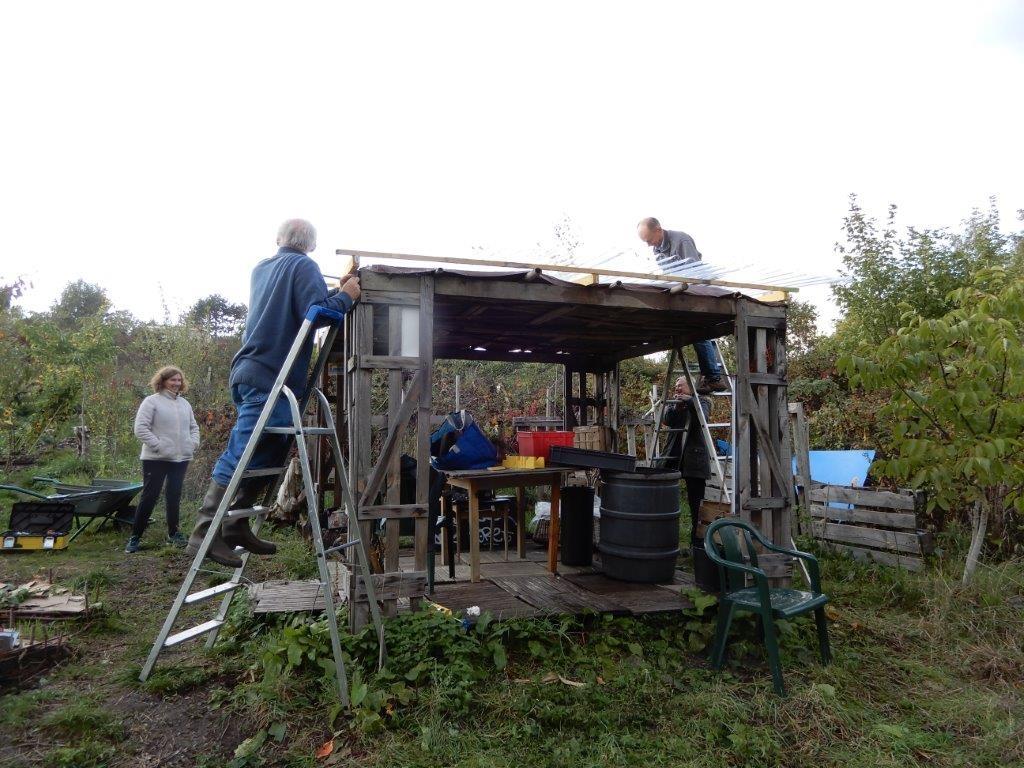 Refection du toit de la tonnelle