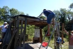 Consolidation  toit de la tonnelle